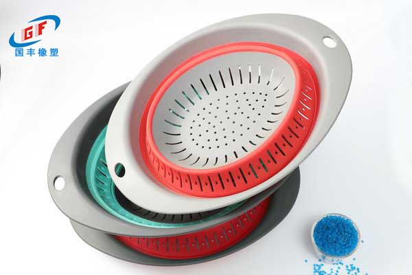 国丰橡塑TPE\TPR原料应用到折叠脸盆制品-威海**塑料制品厂